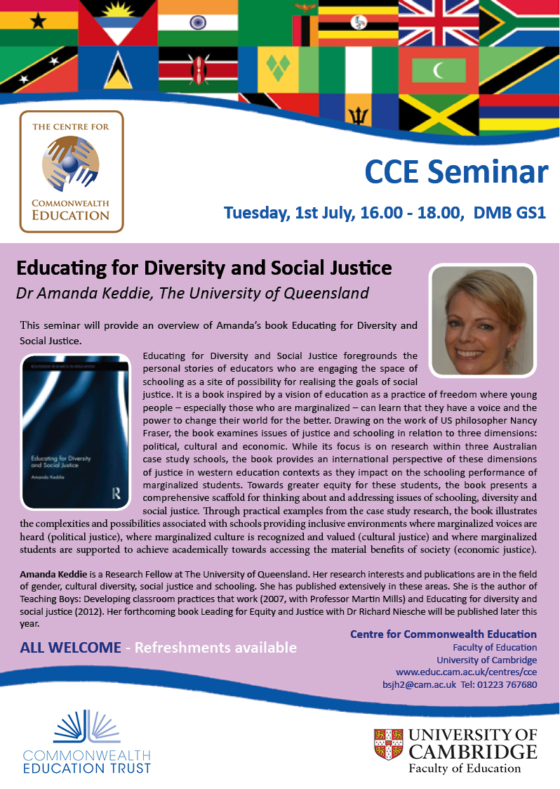 Seminars Faculty of Education – Seminar Flyer