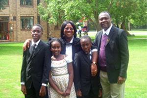 Dr Georgina Oduro and family