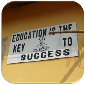 Education is Key sign