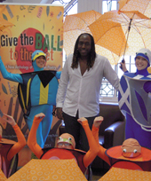 Kei Miller at launch of Give the Ball to the Poet in Glasgow 2014