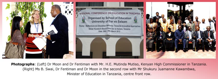 Conference with Minister of Education in Tanzania (March 2012)