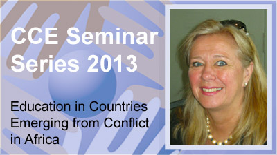 CCE Seminar date, Alicia Fentiman and Ilse Wermink (12 March 2013)