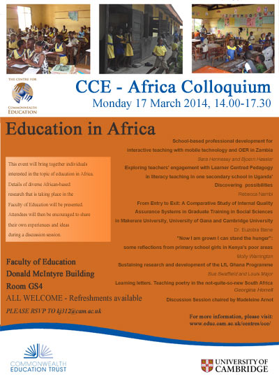 Image of CCE - Africa Colloquium flyer