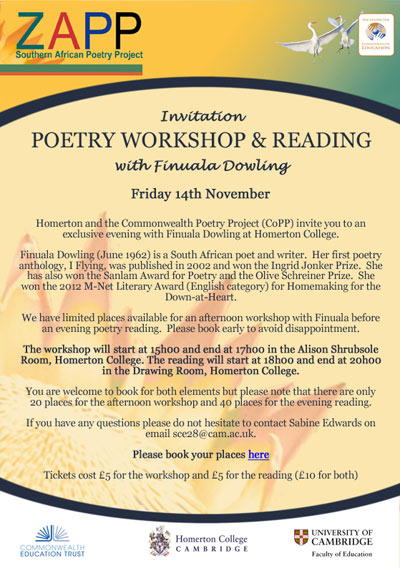 Invitation to Poetry Event