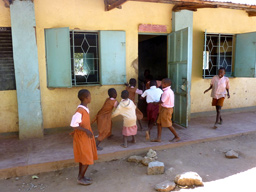 Children playing in a Central Province school, Kenya