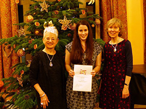 Anna Savoie won the 2015 Jacqueline Wilson Award