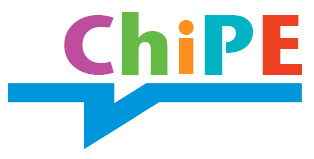 "the ChiPE logo: brightly coloured letters spelling ""ChiPE"" over a blue underline."