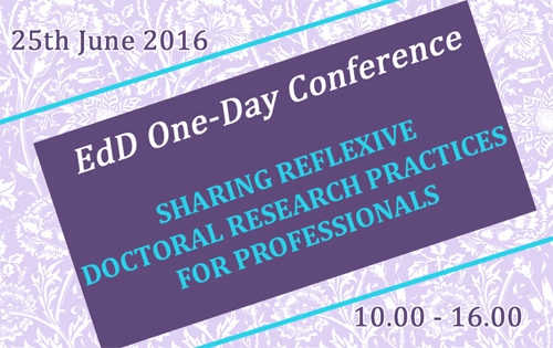 EdD One Day conference splash graphic