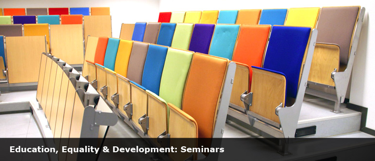 colourful chairs at a meeting