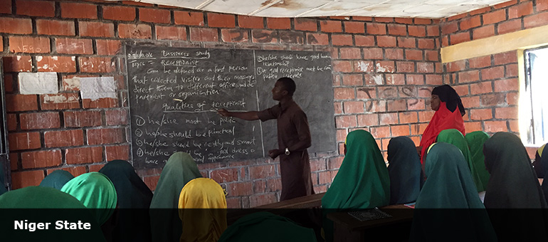 Classroom of secondary school Niger State