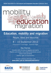 Thumbnail of A3 poster for BAICE 2012 conference