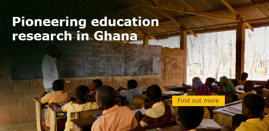 A classroom of children with a teacher in a Ghana school