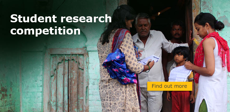 Researchers conducting household education survey