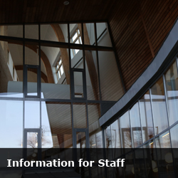 information for staff button