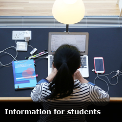 informatin for students button