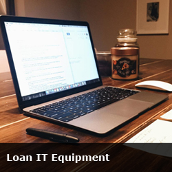 loan IT equipment button