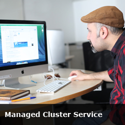 managed cluster service button