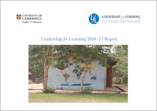 Cover of 2016-2017 Leadership for Learning report