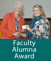 Arlene Holmes Henderson receives the award from Dame Mary Peters