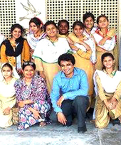 Arif Naveed and teachers in Pakistan