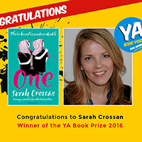 Book cover and Sarah Crossan