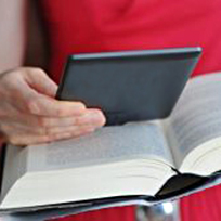 Handheld device and book