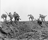 trench warefare on the western front - image copyright imperial war museum