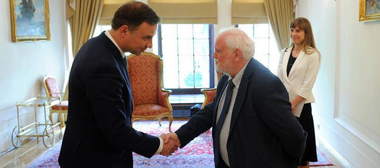Polish President Andrzej Duda and David Whitebread