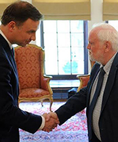 Polish President Andrzej Duda and Professor David Whitebread
