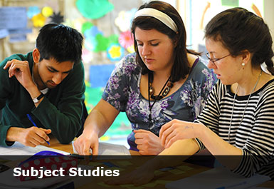 Students on geography subject study