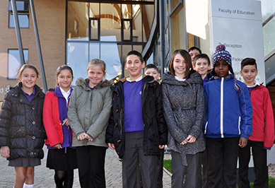 Primary school children visit Faculty of Education, Cambridge