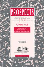 PROSPECTS Journal Cover