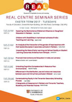 REAL Centre Easter Seminars