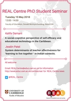 REAL Centre seminar 15th May