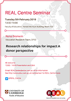 Research relationships for impact:A donor perspective