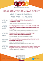 REAL Centre Lent seminars