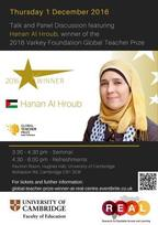 Global Teacher Prize winner event poster