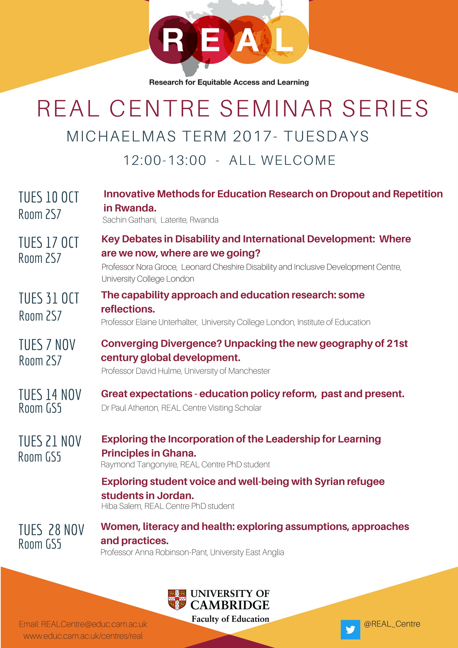 REAL Centre Seminars