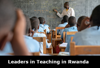 Children learning maths in Rwanda