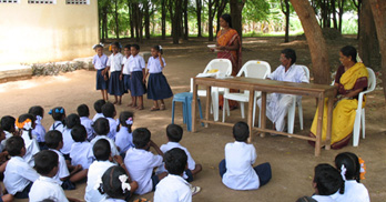 Outdoor Primary classroom, India