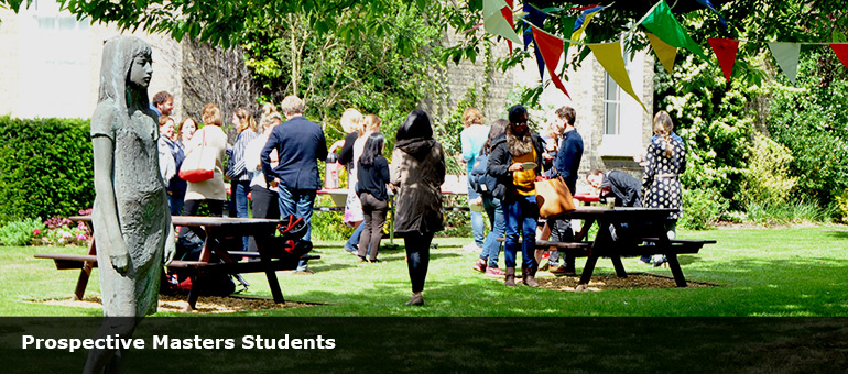 student and staff party in Faculty garden