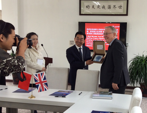 Geoff meeting the Beijing Academy head